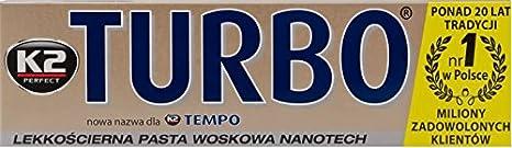 K2 Turbo Tempo compuesto de pulido de coche con Nano-Tech, 120 g Pasta + DEKRA Logo: Amazon.es: Coche y moto
