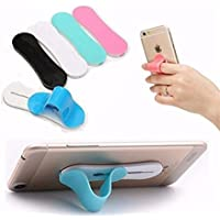 AccWorld ® 5 Pieces Combo of 2 in 1 Finger Sling Strap & Silicone Stand to Grip Your Phone/Mobile/Phone Holder (Mix Colours)