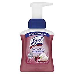 LYSOL Brand REC 00316 RAC00316CT Touch of Foam Antibacterial Hand Wash, 8.5 oz., Rose and Cherry, Pump Bottle, Light Red (Pack of 6)