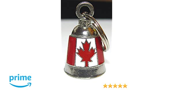 GUARDIAN BELL CANADIAN FLAG W// ENAMEL For Harley Davidson gremlin mod dyna motorcycle fxr custom canada maple leaf triumph heritage sportster chopper 1200 iron 880 vulcan goldwing honda yamaha kawasaki sport street road warrior