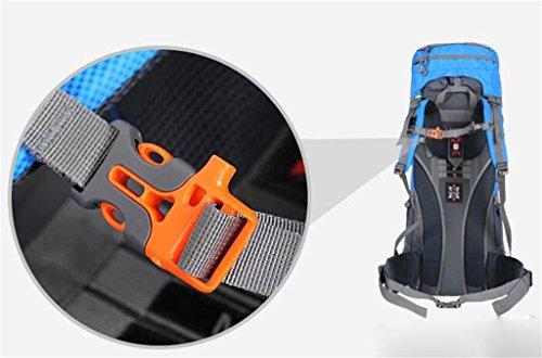 Borsa uomini e donne spalla borsa da viaggio impermeabile grande capacità di alpinismo all'aperto zaino 60 / 70L ( colore : Rosso , dimensioni : 70L )