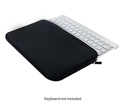 Case Wonder Soft New Neoprene Sleeve Case Portable Protection Zipper  Carrying Cover Bags Skin for Apple Wireless Bluetooth Keyboard MC184LL/B  MC184CH