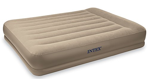 Intex Pillow Rest Mid-Rise Airbed with Built-in Pillow and Electric Pump, Queen, Bed Height 13 3/4'' by Intex