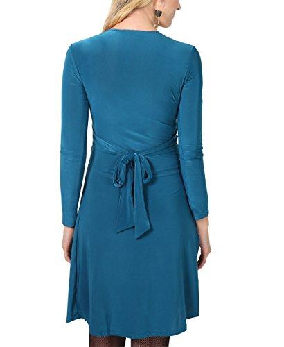Kleid langarm petrol