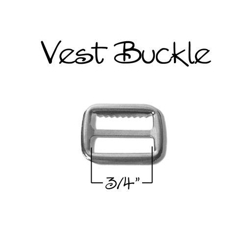 Vest Buckle - Slide Adjuster 3/4 - Nickel - Qty 100 by I Craft for Less
