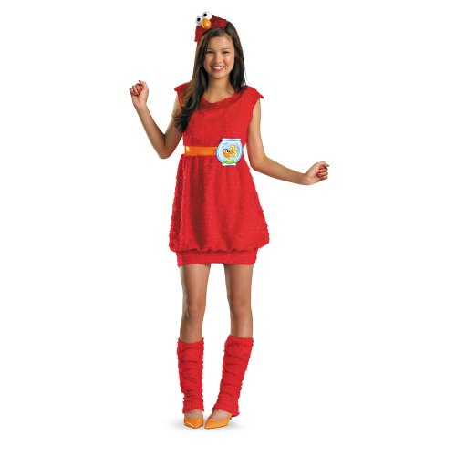 Street Girl Costume (Disguise Sesame Street Elmo Teen Girls Costume, X-Large/14-16)