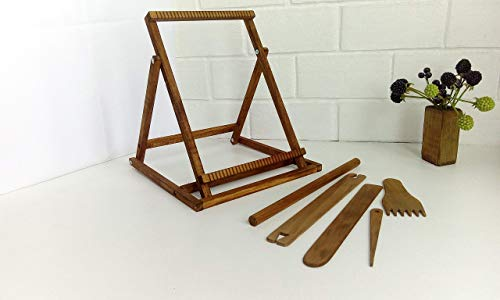Frame Loom With Stand Weaving Loom For Beginner Weaving Tapestry Loom Kit And Tool For Adult