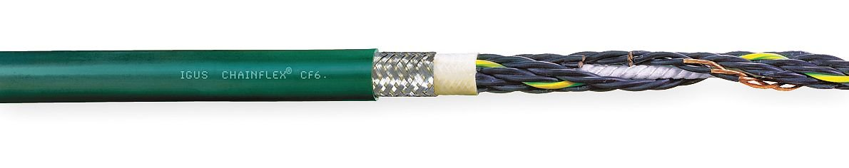 Chainflex//Igus Max 25 ft Green Amps 14 CF6-15-07-25 Shielded Continuous Flexing Control Cable