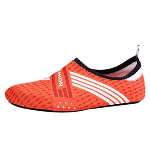 Pour Séchage z 01 Chaussures Exercice Pieds Chaussettes Femmes À Plage De Nagent Qiyun Nus Aqua Yoga La orange Rapide Hommes Surf 4Ppfdz