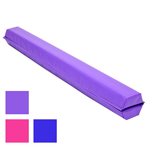 Balance Beam - Best Choice Products 9ft Folding Medium-Density Foam Floor Balance Beam for Gymnastic and Tumbling - Purple
