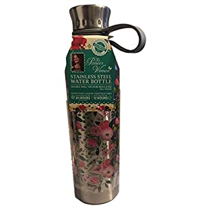 The Pioneer Woman Stainless Steel Water Bottle 18 oz 24 Hrs Cold 12 Hrs Hot (Stainless Steal)