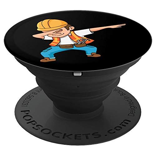 Dabbing Construction Worker, Funny Gift - PopSockets Grip and Stand for Phones and Tablets