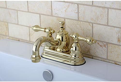 Kingston Brass KS7102AL English Country 4-Inch Centerset Lavatory Faucet Pop-Up, 4-15 16 , Polished Brass