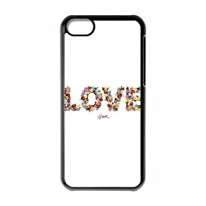 XiFu*Meiiphone 6 plua 5.5 inch Case,Love Floral Typography Hard Shell Back Case for Black iphone 6 plua 5.5 inch Okaycosama345882XiFu*Mei
