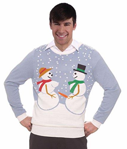 Forum Novelties Adult Snow Couple Ugly Christmas Sweater, Multi, Large]()