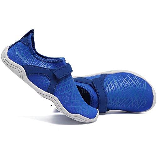 CIOR FANTINY Jungen & Mädchen Wasser Schuhe Leichte Komfort Sohle Leicht Walking Athletisch Slip Auf Aqua Socke (Kleinkind / kleines Kind / großes Kind) (Kleinkind / kleines Kind / großes Kind) K.deep Blau