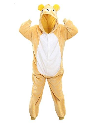 (NATURET Onesie Pajamas Animal Cosplay Panda One Piece Sleepwear for Parent Child Clothes (XL, Bear))