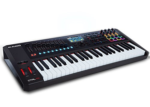 M-Audio CTRL49 | 49-Key USB/MIDI Smart Controller with Full-Color Screen (8 pads / 8 knobs / 8 buttons / 9 faders) ()