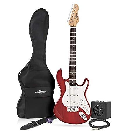 Guitarra Eléctrica LA 3/4 + Mini Amplificador Granate: Amazon.es: Instrumentos musicales