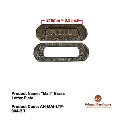 Adonai Hardware Mail Decorative Brass Letter Plate