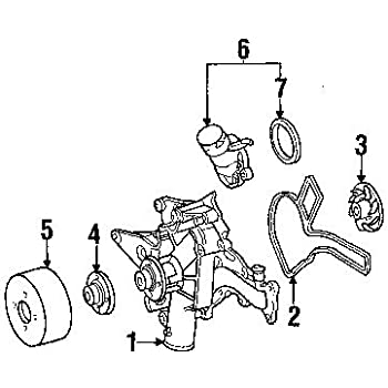 Amazon Com Mercedes Benz 112 201 01 80 Engine Water Pump Gasket