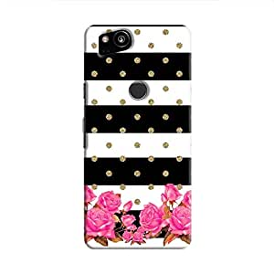 Cover It Up Spotted Flower Stipes Hard Case For Pixel 2 - Multi Color