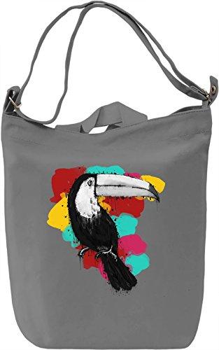 Graphic Toucan Borsa Giornaliera Canvas Canvas Day Bag  100% Premium Cotton Canvas  DTG Printing 