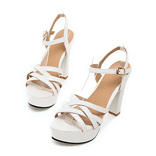 Polyurethane Solid Sandals Girls Rain White 1TO9 tqwPvxB