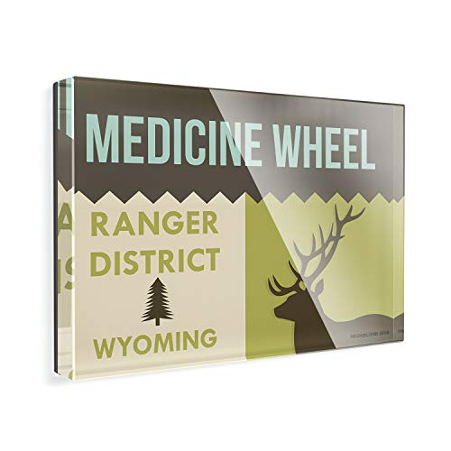 - Acrylic Fridge Magnet National US Forest Medicine Wheel Ranger District NEONBLOND