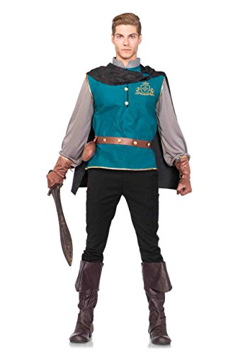 [4 PC. Men's Storybook Prince Set - X-Large - Multicolors] (Storybook Prince Adult Mens Costumes)