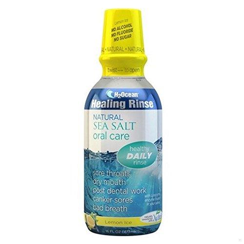 H2Ocean Lemon Ice Mouthwash, 16 Fluid Ounce