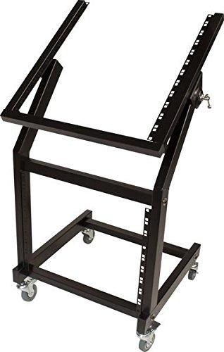 9u Rugged Rack - Ultimate Support JS-SRR100 JamStands Series Rolling Rack Stand