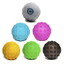 Hexnub Covers Complete Set of 6 for Sphero 2.0 Robotic ball & SPRK editions - Off Road Protection - One of Each Color Included