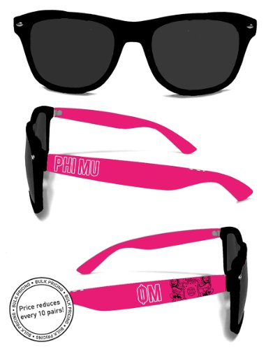 Officially Licensed Phi Mu Sunglasses - Phi Mu Fraternity
