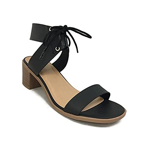 ae2d57483c2 good City Classified Women s Dress Sandal Chunky Heel Over Toe   Ankle Wrap  Tie Front Strap