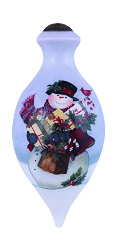 "Ne'Qwa Art, Frosty's Gifts"" Artist Susan Winget, Brilliant-Shaped Glass Ornament, 7151158 (Ornament Frostys Favorite)"