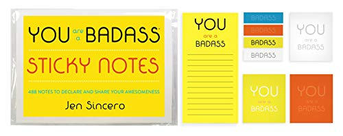 Book cover from You Are a Badass® Sticky Notes: 488 Notes to Declare and Share Your Awesomeness by Jen Sincero