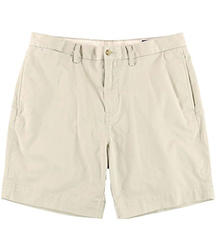 Polo Ralph Lauren Mens Casual Classic Fit Khaki Shorts Beige (Polo Ralph Lauren Khaki Shorts)