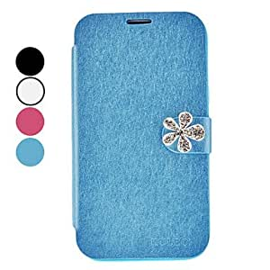 Fashion Rhinestone Flower Design PU Leather Case for Samsung Galaxy Note 2 N7100 (Assorted Colors) --- COLOR:Pink