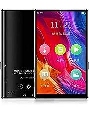 """UOOD MP3 Speler met Bluetooth, 4.0""""Full TouchScreen MP4 MP3-speler met luidspreker, draagbare geluid MP3-muziekspeler met FM Radio, Voice Recorder, E-BOEK, ondersteunt maximaal 12 8GB TF Kaart"""