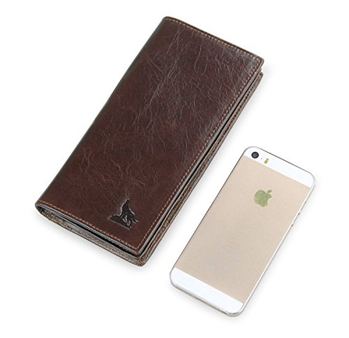Card Purse Artmi Credit Leather Genuine Checkbook Wallet Holder Business Mens Wallet PvPaqn8