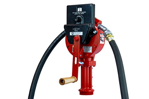 Fill-Rite FR112C Rotary Hand Pump with Discharge Hose, Nozzle Spout, Suction Pipe, and Gallon Counter by Fill-Rite