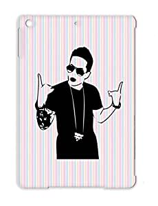 Club Star Recording Artist Tattoos Music Hip Hop Party Chain Swag Singer Famous Rapper TPU Protective Case For Ipad Air Black Rapper Swag
