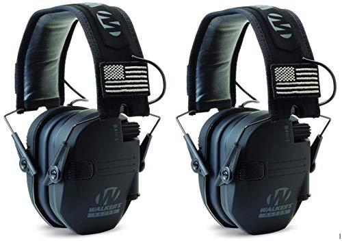 (Walkers GWPRSEMPAT Razor Patriot Electronic Earmuff 23 dB Black - 2)