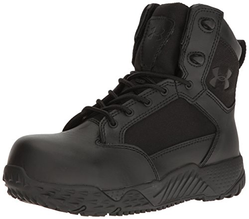 Under Armour Women's Stellar Protect Military and Tactical Boot, Black (001)/Black, 8