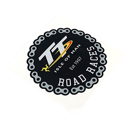 Road Race Chain - DXYMOO Car Stickers PREVENTING Road Races Est 1907 Chain Shield Motorbike Vinyl Decal Bumpers for TT ISLE of MAN 100mm