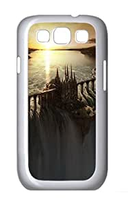 Samsung Galaxy S3 Case and Cover- Castle On The Waterfall Fantasy Custom PC Case for Samsung Galaxy S3 / SIII / I9300 White