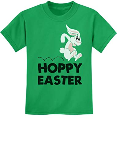 - Hoppy Easter - Happy Easter Bunny Children's Cute Boy/Girl Kids T-Shirt X-Small Green