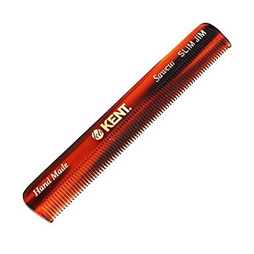 Kent SLIM JIM 4 1/2 118mm Handmade Mens Pocket Comb all Fine. Sawcut