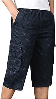 Men's 3/4 Capri Pants Outdoor Hiking Shorts Quick Dry Cargo Shorts Camping Shorts Stretchy Shorts Men Work